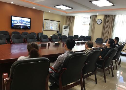省关工委办公室党支部收看纪念烈士活动直播